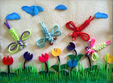 幼儿园墙饰作品:蜻蜓图片