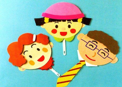幼儿园手工制作:扇子家族 - 纸制品制作 - 天天学习网站; 幼儿园手工图片