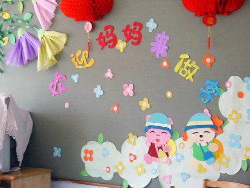 幼儿园幼儿营养食谱_墙饰:欢迎妈妈来做客 _幼儿手工 - 宝宝吧