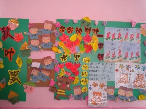 幼儿园秋天主题墙饰图片