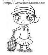 打网球简笔画