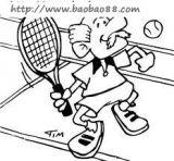 打网球简笔画5