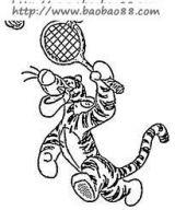 打网球简笔画6