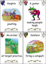 骑士和城堡卡片