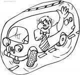 各种运输车简笔画2