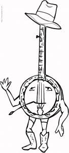 喇叭等乐器的简笔画