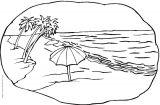 (花园-山峰-自然现象-海洋-瀑布)简笔画2
