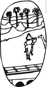 沙漠-灾害-天气-森林简笔画3