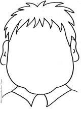 脸型简笔画[20p]_人物简笔画(涂色图片)