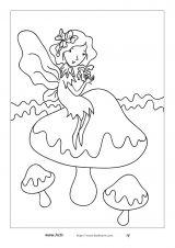小仙女填色图6
