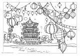 中国传统新年填色图5
