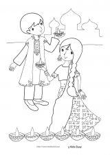 印度儿童简笔画5