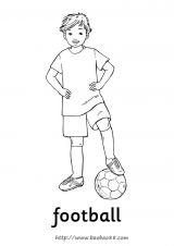 足球健儿简笔画2