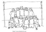 足球健儿简笔画