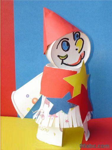 儿童手工小制作_可爱的纸杯娃娃制作_幼儿手工 - 宝宝吧