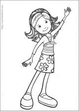 时髦小女孩填色图4