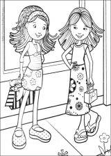 时髦小女孩填色图6