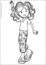 时髦小女孩填色图5
