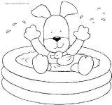 小动物洗澡简笔画6