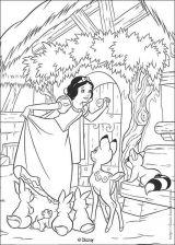白雪公主和七个小矮人简笔画