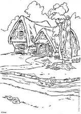 白雪公主和七个小矮人简笔画4