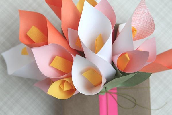 意包装盒装饰花制作图解-小花礼品创意折纸图片