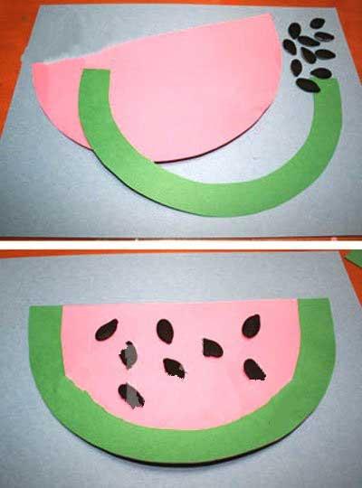 幼儿园手工制作:大西瓜