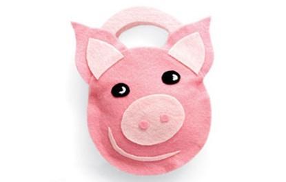 手工小制作-小猪手袋的制作