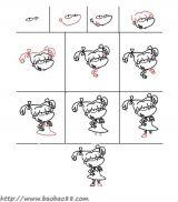 学画卡通动物人物2