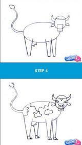 学画母鸡、奶牛、猪、老鼠、狗5