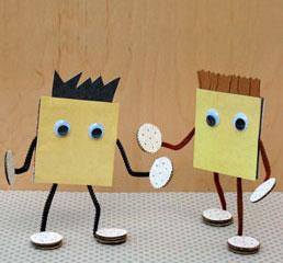 """小学生创意手工制作之""""奶酪""""小伙伴图片"""