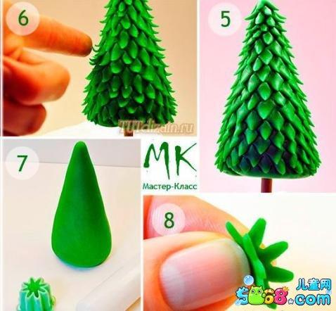 圣诞树手工制作大全-好看的粘土圣诞树图片