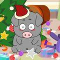 小黑猪破坏圣诞树