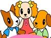 宝宝涂色:三只狗