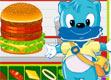 蓝猫做汉堡 食物