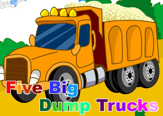 英语儿歌 Five big dump trucks