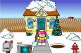 圣诞节挖雪
