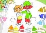 韩国幼儿涂色游戏