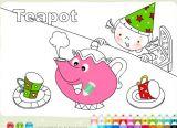 茶壶茶杯涂色