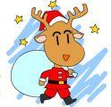 宝宝涂色:小圣诞鹿
