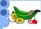 幼儿涂色:热带水果
