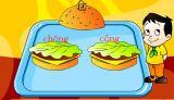 选拼音[二年级]:汉堡大王