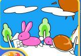 幼儿涂色:龟兔赛跑