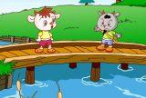 两只山羊过桥