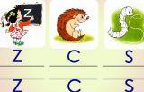 一年级拼音:z,c,s