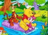 �和�涂色:小熊�S尼和跳跳虎