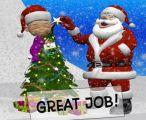 圣诞老人和孩子拼图