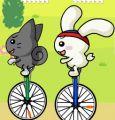 小白兔骑独轮车