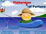 渔翁海面钓鱼