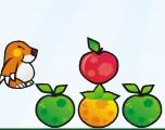 小动物搬水果